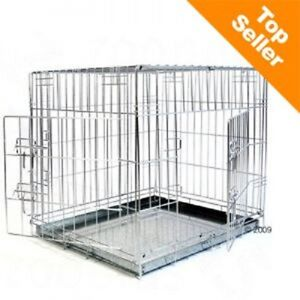Dog Cage House Car Crate Double Door safe during transport safe at home Small