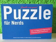 """Spaß-Puzzle """"Für Nerds"""" 96Teile Gag Ulk Party Spiel Geduldsspiel Fun Geschenk"""