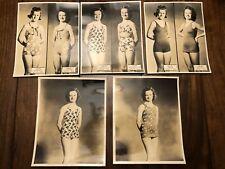 Five Rare Vintage Jantzen swimsuit REAL PHOTO Advertising Proofs - 1940-1950's