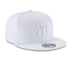 af19f424cbf New Era New York Yankees White On White Logo 9Fifty Snapback Hat