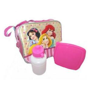 Disney Princess Lunch Bag with Water Bottle and Sandwich Box