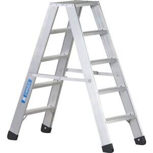 Zarges Seventec B,Genietete Stufen-Stehleiter 2x3 bis 2x10