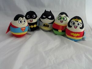 DC Super Heroes 14cm Egg Wobble Soft Toy Official DC Comics Plush Car Dash? NEW