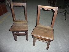 Ref 677 Deux chaises lorraines XIXeme (1 à restaurer)