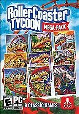 Rollercoaster Tycoon Mega-Pack 9 PC Games Steam Global (2016) Win 10/8/7, No DVD