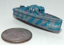Small Micro Machine Plastic Pt-Boat Pt-105 in Blue Camouflage