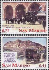 San Marino 2003 Mail Coach/Stagecoach/Post/Postal Transport 2v set (n45307j)