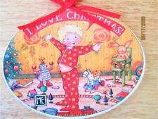 Vintage Midwest Imports Mary Engelbreit Wooden I Love Christmas Ornament Tags