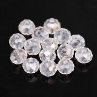 50pcs Clear AB Round Crystal Loose Finding Spacer Beads 6x8mm For Diy Bracelet