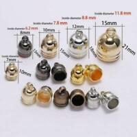50pcs/Lot Tassel End Caps Leather Cord Crimp Bead Connectors DIY Jewelry 7-14mm