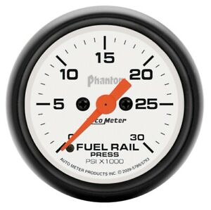 "Auto Meter 5786 2-1/16"" Phantom Fuel Rail Pressure Gauge 0-30K PSI NEW"