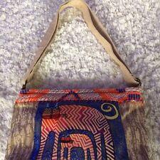 Cat Purse Bag Laurel Burch Cats Tribal Shoulder Tribal