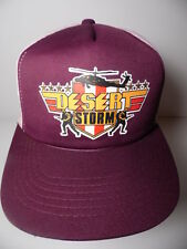Rare Vintage 1980s DESERT STORM Gulf War Advertising SNAPBACK HAT TRUCKER CAP