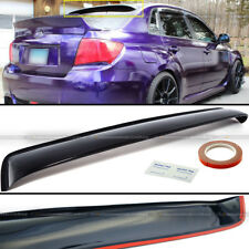 Fit 08-14 Impreza WRX STI 4DR Rear Window Roof Sun Rain Shade Vent Visor Spoiler