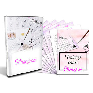 Design Monograms training card and video lessons for masters of manicure
