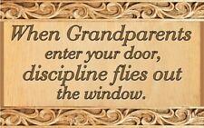 (Grandparents Presence)   DISTRESSED SIGN / PLAQUE, WALL DECOR, PRIMITIVE SIGN