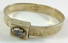 Harley Davidson Hinged Bangle Bracelet Sterling Silver Vintage 49.4 Grams