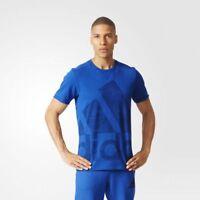 adidas Performance ATC Logo Tee Sizes S, L Blue RRP £25 BNWT AJ4785