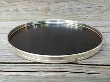 """Gorham Sterling Silver And Black Formica Trivet Tray 9"""" 1317 Ex Condition"""