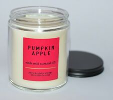 BATH & BODY WORKS PUMPKIN APPLE SCENTED CANDLE SINGLE WICK 7 OZ ESSENTIAL OILS