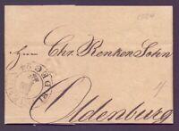 Vorphilabrief Bremen 1824 mit großem Schlüsselstempel nach Oldenburg (001)