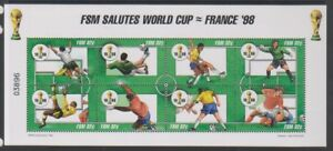 Micronesia - 1998, World Cup Football sheetlet - MNH - SG 599/606