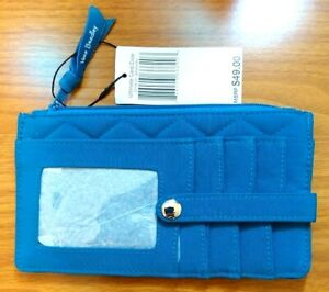 NWT Vera Bradley Ultimate Card Case Wallet Purse in Bahama Bay Microfiber