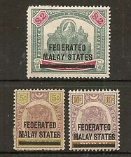 FEDERATED MALAYA 1900 PERAK 5c, 10c & $2