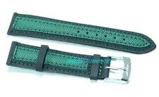 Cinturino olorogio in tessuto cordura imbottito 20mm nero verde tipo sector s20v
