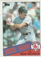 FREE SHIPPING-MINT-1985 Topps #37 Reid Nichols Red Sox PLUS BONUS CARDS