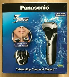 Pansonic ES-RT47 3 Blade Electric Wet Dry Rechargeable Stubble Beard Hair Shaver