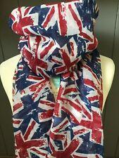 Union Jack UK Bandiera Souvenir Regalo Signore RAGAZZE STAMPA FASHION Maxi Sciarpa Sarong