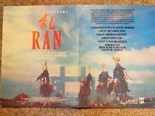 Ran (Video Dealer Brochure 1990S) Akira Kurosawa Japan Samurai Film Classic