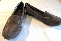 SKECHERS WOMEN'S RELAXED FIT MEMORY FOAM BROWN LEATHER SHOES, SIZE 7.5 NWOB