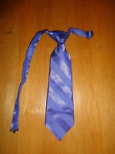 "Child Size Tie Blue Adjustable Neck Strap Approx 10"" Long"