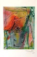 Dali Lithograph With Embossing Facsimile Signed Le Cheval De La Mort 1983