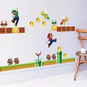 Super Mario XXL Wandtattoo Junge Wandsticker Kinderzimmer Baby Aufkleber Bild