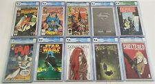 LOT OF (10) MARVEL DC CGC GRADED COMICS Uncanny X-Men 211 Bone 13 Star Wars