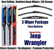 3-Pack Wipers Front/Rear NeoForm 2018 Jeep Wrangler JK - 16160x2/12B