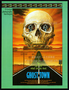 GHOST TOWN__Original 1985 Trade Print AD movie promo / poster__CHARLES BAND_1988