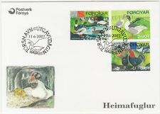 Faroe Islands 2007 Birds, Poultry, Chickens Ducks Geese, First Day Cover