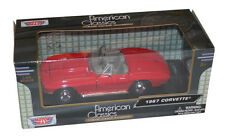 1967 Corvette rot,Modellauto MOTORMAX,1:24,Premium DIE-CAST Collection,Classic