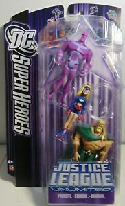 DC Justice League Unlimited Parasite Stargirl Aquaman With Cape Mattel JLU (MOC)