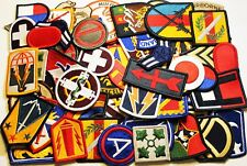 Lot of 60 Assorted U.S. Military Army & Air Force Shoulder Unit Insignia Patches