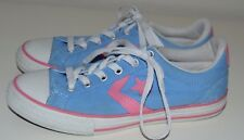 Ladies Converse Cons Baby Blue & Pink Canvas Trainers Pumps Size UK 3