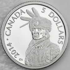 Canada 2014 $5 Portrait of Nanaboozhoo 1/10 oz. 99.95% Pure Platinum Proof Coin