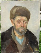 1950 Portrait d'un Homme Russe Lioubov RABINOVITCH (1907-2002) Peinture Russie