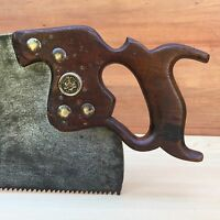 PREMIUM Quality SHARP! Antique CLOSE & YOULE RIP SAW Vintage Old Hand Tool #274