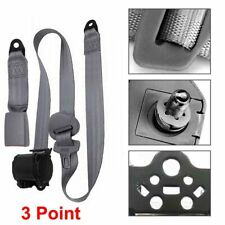 1 Set Gray Car Auto Vehicle Adjustable Retractable 3Point Safety Seat Belt Strap