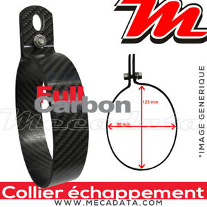 Collier de fixation ovale carbone pour silencieux échappement Arrow